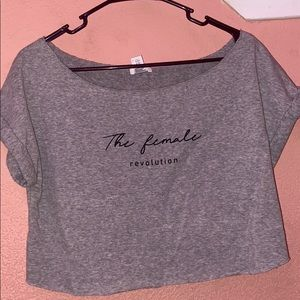forever21 cropped tee